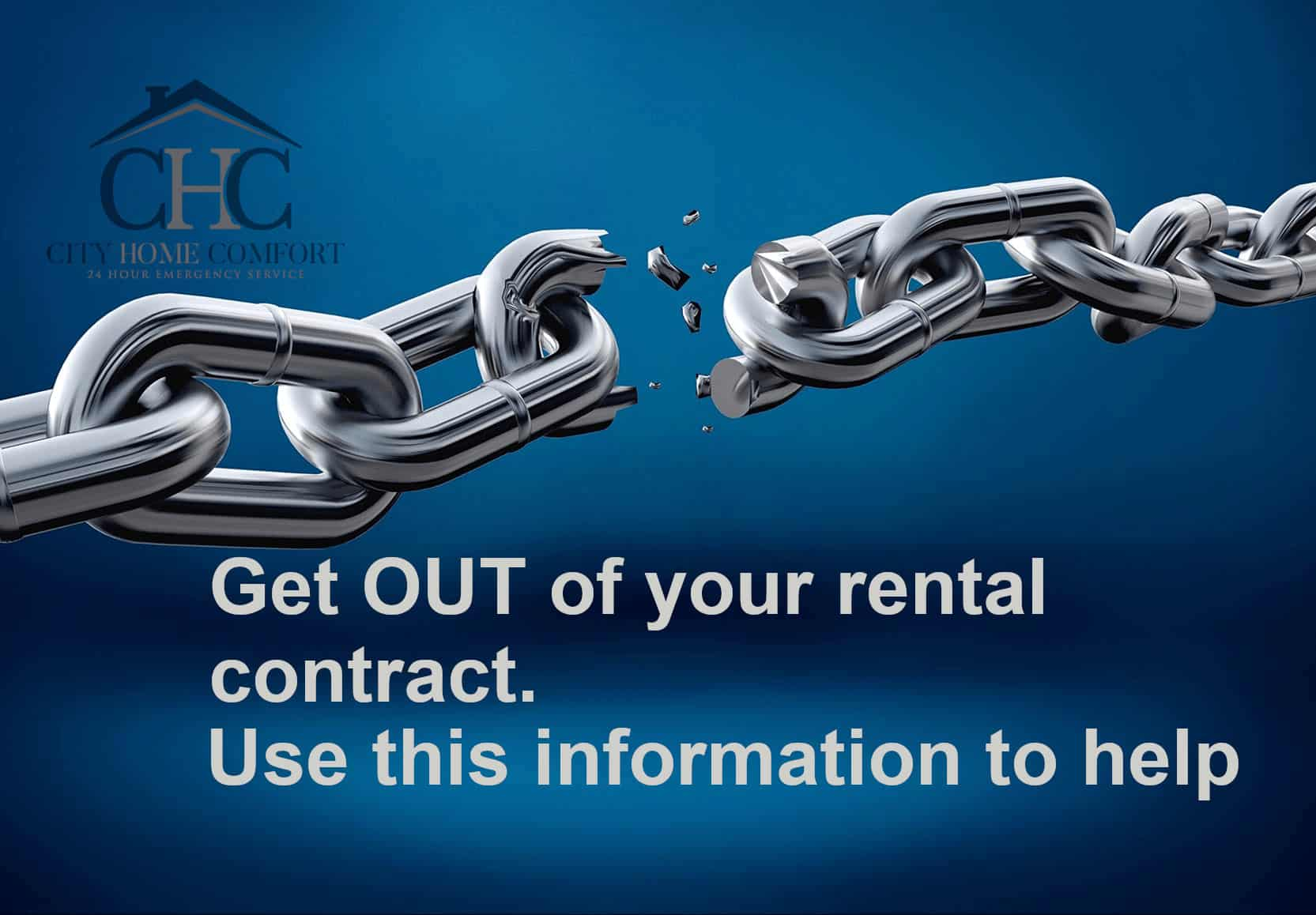 Cancel your rental water heater contract.